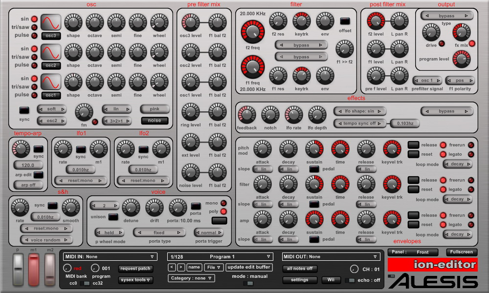HyperSynth - ion-editor | Alesis ION-Micron Software Editor